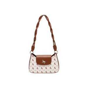 Womens Bag Handbags 2020 New Model Shoulder Bag with Ponies Animal Decoration Female Designer Luxury Purse Crossbod 2 straps