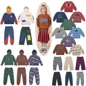 Çocuklar Giyim Seti Sonbahar Kış BC Strafina Erkek Kız Hoodie Kazak Pantolon Bebek Moda Kapüşonlu Ceket Çocuk Pantolon 201026
