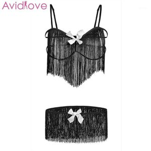 Avidlove Women Open Bra Sexy Set Elastic Fringe Sexy Suit Underwear Fun Strap exotic apparel1