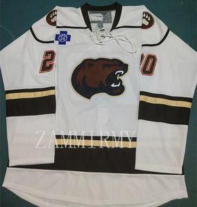 Vintage Hershey Bears L.O'BRIEN 20 hokey Jersey Ricamo cucito Personalizza qualsiasi numero e il nome