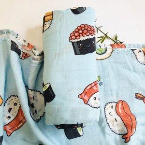 Blanket Organic Bamboo Algodão Muslin gavetas Enrole alimentação arroto toalha scraf babadores Swaddling Receber Blanket 83wa #