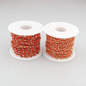 10m 2roll / lot moda cam diy tespih MxzE # için tespih zinciri takı, sıcak satış zinciri boncuk takı boncuk