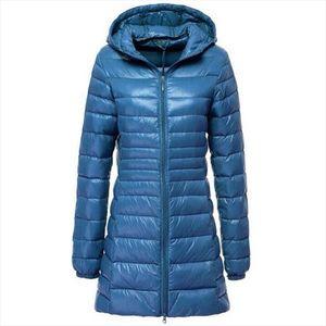 7XL 2020 Winter Jackets Women White Duck Down Long Jacket Female Padded Hooded Parkas Ultra Light Portable Down Coats Casacos