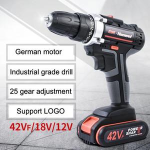2Speeds Electric Drill Cordless Screwdriver 21V 18V 12V Lithium Battery Cordless Drill Mini Drill Cordless Screwdriver Power Tool VT0937
