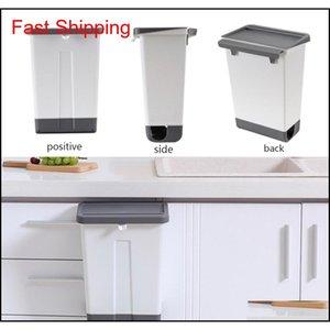 Kitchen Trash Can Plastic Wall Mounted Trash Bin Waste Recycle Compost Bin Garbage Bag Holder Waste Container Bathr qylbiB sports2010
