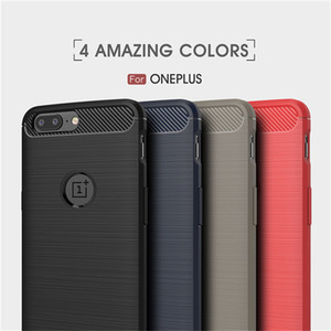 Cases Silicone one plus 6 6T OnePlus 5 5T 3 3T Armor Carbon TPU Phone Back Cover Red Case