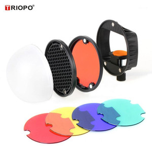Magnetic Universal Mount Adapter+Diffuser Ball+Honeycombs Grid Reflector+4pcs Color Gel Filters for    Yongnuo1