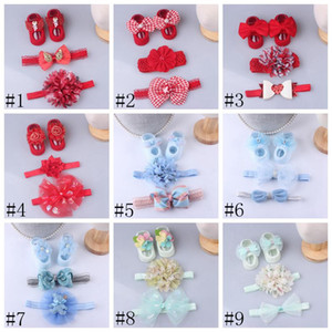 Baby Hair Band Set Baby Infant Shoes Socks Newborn Socks Lace Headband 100 Days One Month Gift Set 3 Pieces Hair Accessories FFC5784
