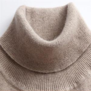 Gaberly Macio Cashmere Sleeers Elastic e Pullovers para mulheres outono de inverno Turtleneck Feminino de lã malha marca camisola 201031