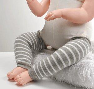 Baby Knee Pads Хлопок с толстыми шерстяными кольцами Утечки ногой зимние младенческие ноги теплы для свободных колено детские ползучие защитные подушки AHB2791