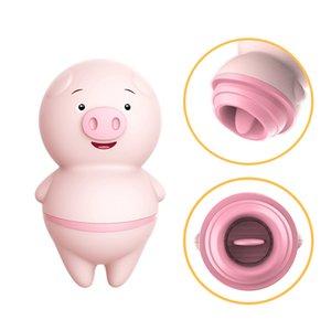 Blackwolf 10 modalità clitoris capezzolo massaggio vagina palle carino rosa porcellino linguetta leccata vibratore adulto giocattoli erotici giocattoli sexy per le donne