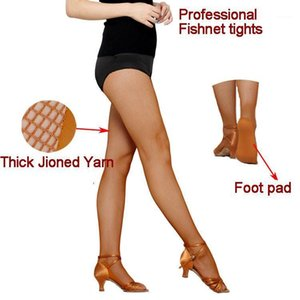 New Seamless Tan Ballroom Latin Dance Thights Professional Fishnet Tights Latin Salsa Dresses For Women On Sale1