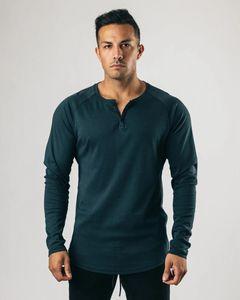 Mens Langarmshirt T-Shirt stilvoller lässig Crewneck V-Ausschnitt T-Shirt Slim Fit Sweatshirts Solide 4 Farben T-Shirts