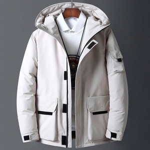 Canada Men &#039 ;S White Workwear New Style Young Puffer Jacket Short Thicken Outdoor Warm Winter Down Coat