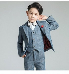 YuanLu Kids Suits Children's suit For Boy Blazer Suit Blazer Vest Pants Boys Wedding Boys Tuxedo mIUs#