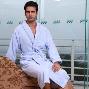 Asciugamano extra lungo in pile Accappatoio Uomo 100% cotone spessore inverno caldo kimono bagno accappatoio femme lingerie damigella d'onore abito condimento