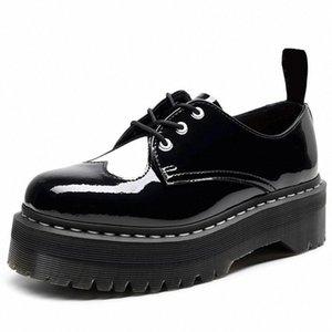 Quente como o tamanho home 35-41 botas de motocicleta robusta para mulheres outono 2021 moda rodada dedo do pé lace-up combater botas senhoras sapatos # xq0u