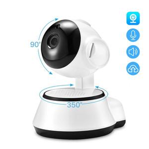 베이비 모니터 1080P 미니 와이파이 IP 카메라 야간 투시경 양방향 오디오 모션 감지 원격 액세스 팬 / 틸트 카메라 V380 자동차의 IP 카메라