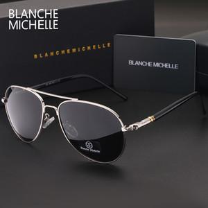 Classique de haute qualité Pilot Sunglasses Lunettes de soleil Hommes Marque conduite Hommes UV400 Vintage de oculos de avec la boîte