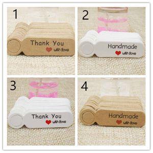 5 * 1.3cm tag étiquette de prix blanc papier kraft pour la forme de tag description pendaison prix de production mignon
