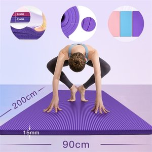 200 cm * 90 cm Mats de yoga 15mm Espesor extra deslizante Esterilla Pilates Ejercicios para el hogar Gimnasio Deportes Baile Mat Mats sin sabor Fitness Pad 201211