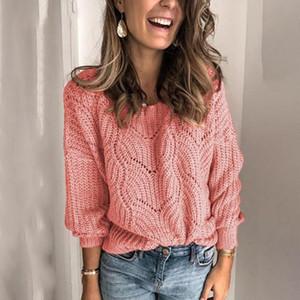 ETOSELL Winter-gestrickten Pullover Frauen 2020 beiläufige O-Ansatz lose Pullover weiblich Pullover