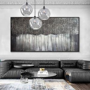 Große Größe Abstrakte Handgemachte Landscape Ölgemälde auf Leinwand 100% Handgemalte Moderne Wandkunst für Wohnzimmer Wohnkultur