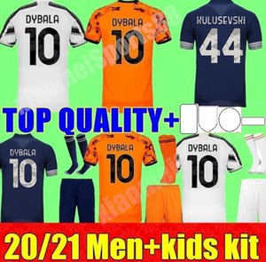 Neue 20 21 Dybala Morata McKennie Soccer Jerseys Football Hemd Startseite Away 3rd de ligt Ramsey 2020 2021 Kind Männer Kinder Kit Uniform