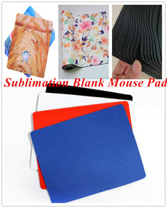DIY Sublimation Blank Blank Pad Pad Heat Termal Transfer Mouse Pad Rettangolare in gomma Base in gomma Tessuto Mousepads