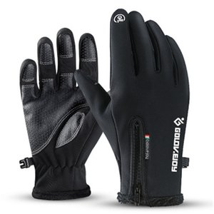Лыжные перчатки Водонепроницаемые зимние спортивные Мужчины и женщины Ветрозащитный Спортивный Флис