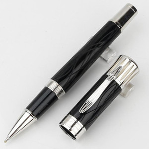Limited edition MARK TWAIN signature collector black and silver clip rollerball pen Ballpoint pen luxury Germany Serial Nunber free shipping
