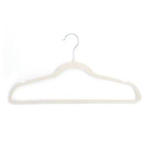 Бесплатная доставка производитель оптом 10 шт. 45 0.5 24.5 пластиковая стекающая одежда вешалки из слоновой кости белый