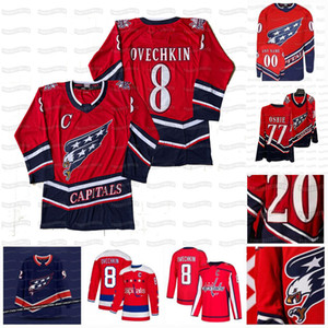 8 Alex Ovechkin Washington Capitals 2021 Retro Retro T.J. Oshie Nicklas Backstrom Tom Wilson Zdeno Chara Lundqvist Vrana Kovalchuk Jersey