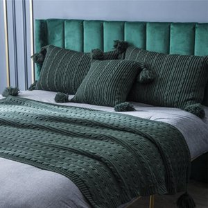 Klimaanlage Decke für Flugzeug-Reise Pillowcase Dekor Nordic Sofa Decke Einfachen Büro Nap-Schal gestrickten beiläufigen