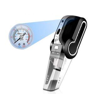 Multifunctional Car Vacuum Cleaner with Air Pump Tire Pressure Monitoring Light D7YA