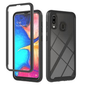 360 Full Body Slim Armor Phone Case For Samsung Galaxy A01 Core A10 A10S A20 A20S A30 A30S A20E A50 A50S M10 with Front Frame
