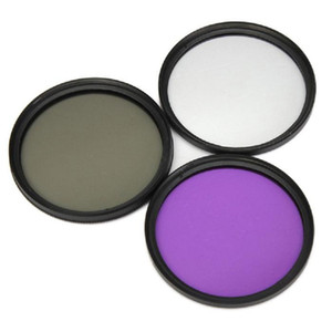 49mm,52mm,55mm,58mm 3 in 1 Lens Filter Set UV Protection, CPL Polarizer, FLD Fluoroscope(UV+CPL+FLD) for Cameras