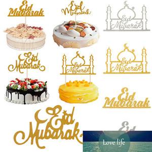 Festival Decoration Paper Ramadan Moon Muslim Glitter Mubarak 1pcs Eid Mubarak Cake Topper Cupcake Flags Islamic Gold DIY Star