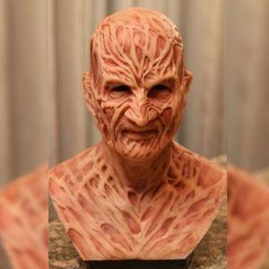 Party Adult Halloween Realistic Mask Mask Costume Horror Freddy Krueger Scary Carnival Cosplay decorazione della casa