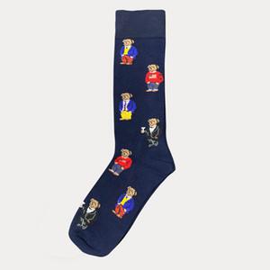 Calzino con orso stampa moda cartoon carino calzini harajuku unisex calzini in cotone elasticizzato con web caviglia calzino hipster skatebord caviglia divertente calzino