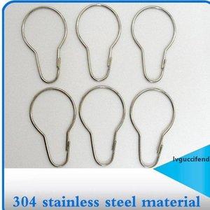 1000pcs New Stainless steel Chrome Plated Shower Bath Bathroom Curtain Rings Clip Easy Glide Hooks Fedex
