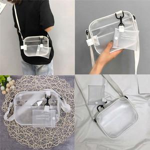 2020 Women Clear PVC Tote Bag Shoulder Handbag Transparent Beach Clutch Purse Gift Jelly Bag Tote Crossbody Shoulder Bags