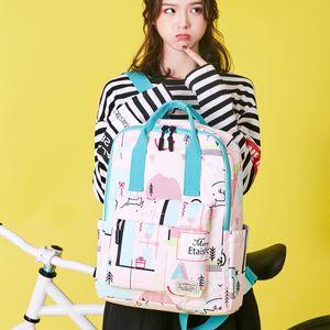 Fashion Girl School Bag for Teenagers Waterproof light Weight Girls Backpack Book bags printing kids backpacks mochila escolar