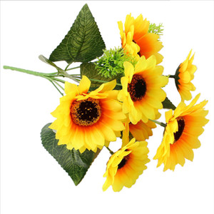 Calla Lily Sun Gerbera Lavender Artificial Flowers Bouquet Cheap Fake Flowers For Home Party Wedding Decoration Indoor Decor