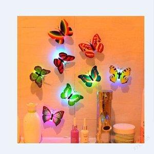 fashion6miusaleColorful Butterfly наклейки на стену Легкая установка горячий ночной свет светодиодный лампа дома живущий ребенок комната холодильник Bedroo13i2