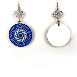 Arbeiten Sie Ohrring Sublimation Blanks-Band-Bolzen zweiseitiger DIY Drucken Rundes Blatt Quadrat Perlen-Ohrringe Neues Muster Womens Hot Verkauf 1 9BD M2