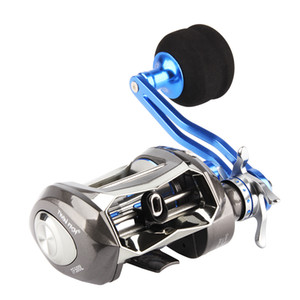 RoseWood 10KG Drag Saltwater Baitcasting Fishing Reel 7.0:1 12+1 Bearings, Left Right Metal Series Baitcast Reels Carretes Pesca