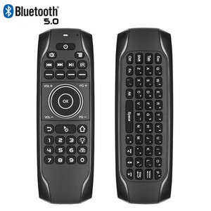 Bluetooth 5.0 Mini Keyboard G7BTS Gyroscope Backlit IR Learning Air Mouse Wireless Remote Control For Smart TV Box Laptop Tablet