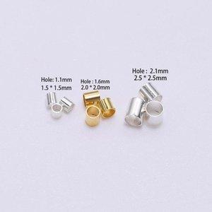 500pcs 1.5 2.0 2.0 2,5mm Tubo de Cobre de Ouro Crimp Beads Beads Stopper Espaçador Beads para Jóias Faça Conclusões Suprimentos BBYPHH