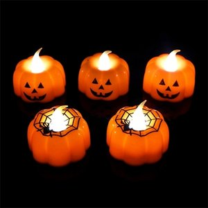 1 2 3pcs Pumpkin Candle Light Party Supplies LED Lights Lantern Lamp Ornaments Props Halloween Decorations for Home